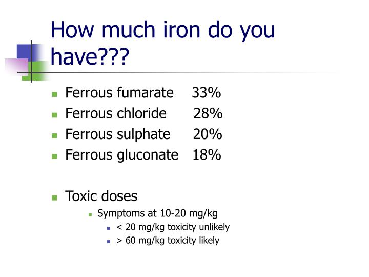 How much iron do you have???
