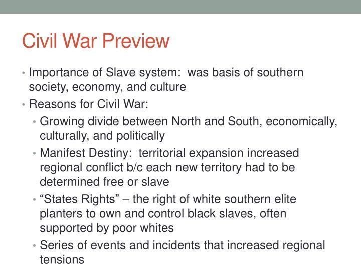 Civil War Preview