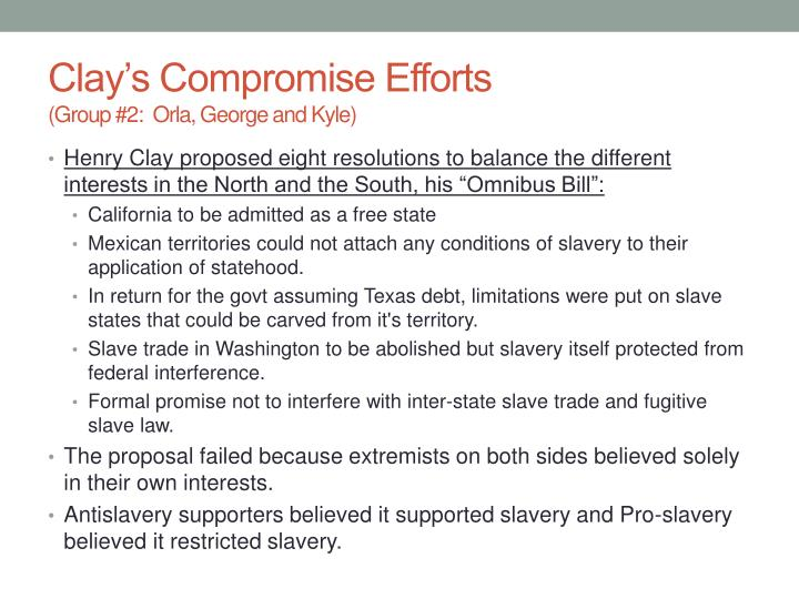 Clay's Compromise Efforts