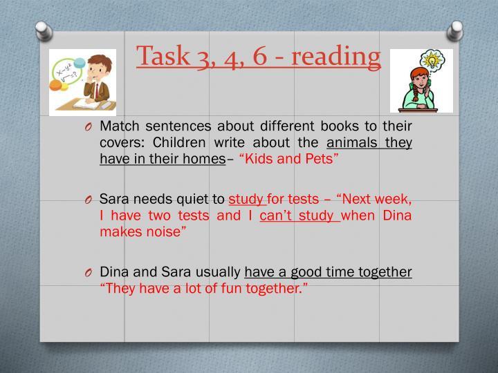 Task 3, 4, 6 - reading