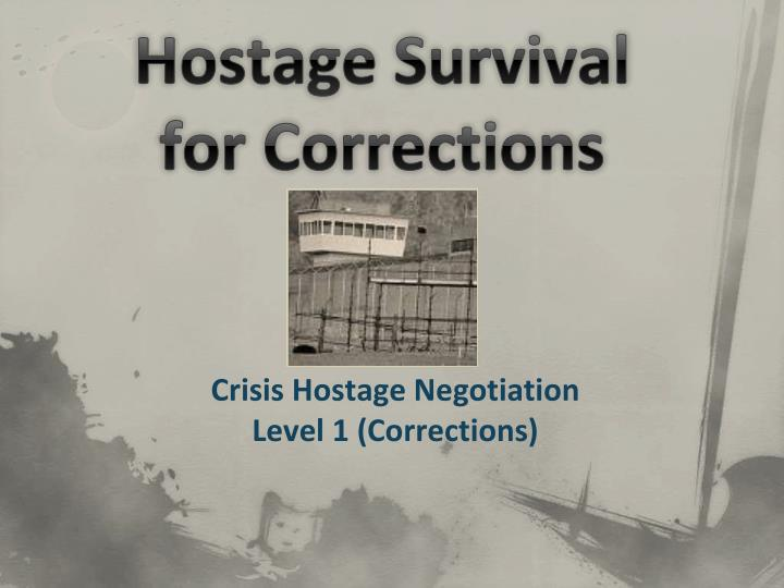 hostage survival for corrections n.