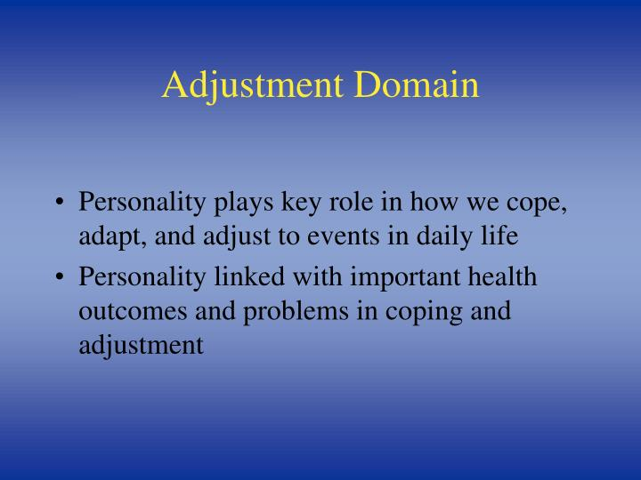 Adjustment Domain