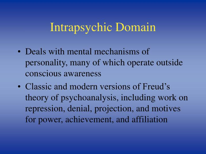 Intrapsychic Domain