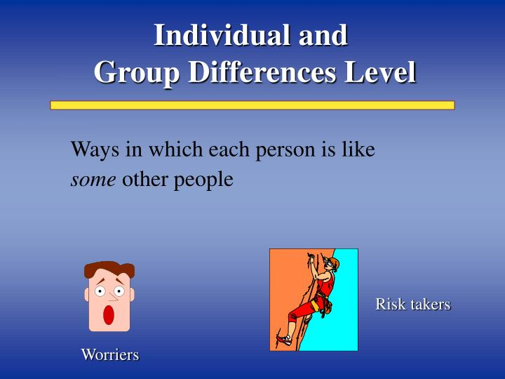 Individual and