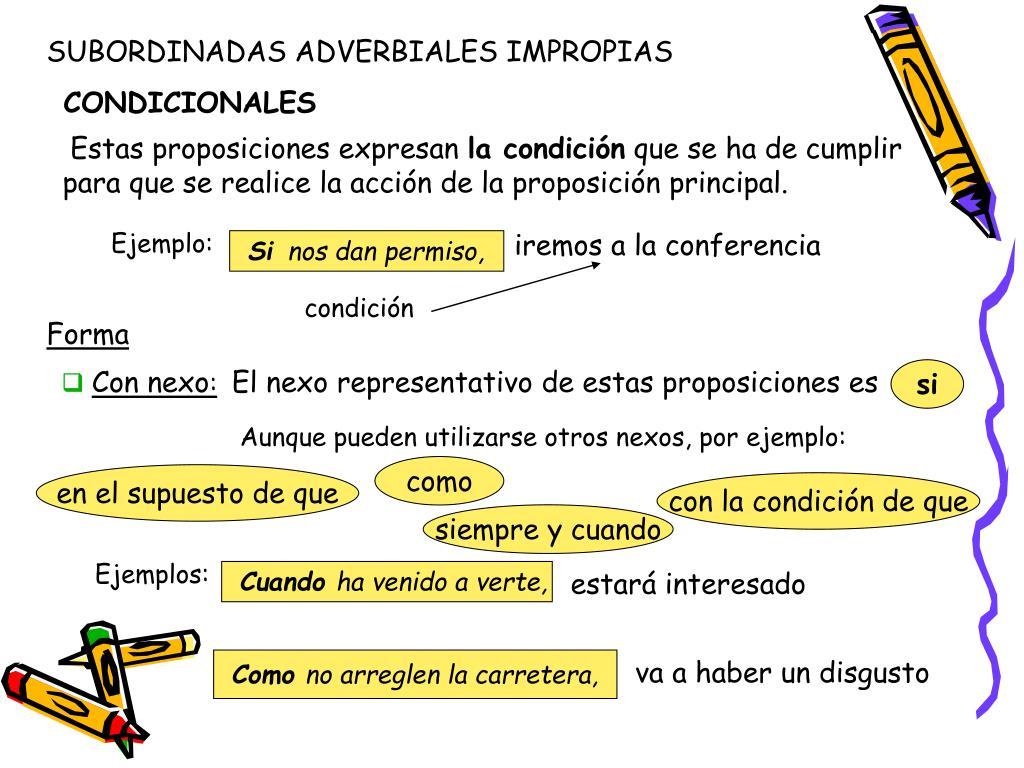 Ppt Las Proposiciones Subordinadas Adverbiales Propias E Impropias Powerpoint Presentation Id 2961350