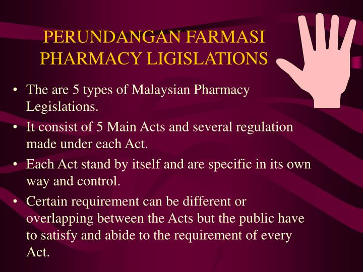 perundangan farmasi pharmacy ligislations n.