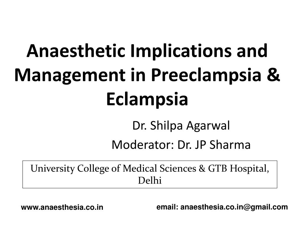 PPT - Anaesthetic Implications and Management in