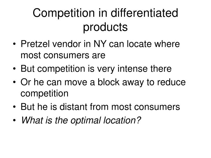 Competition in differentiated products