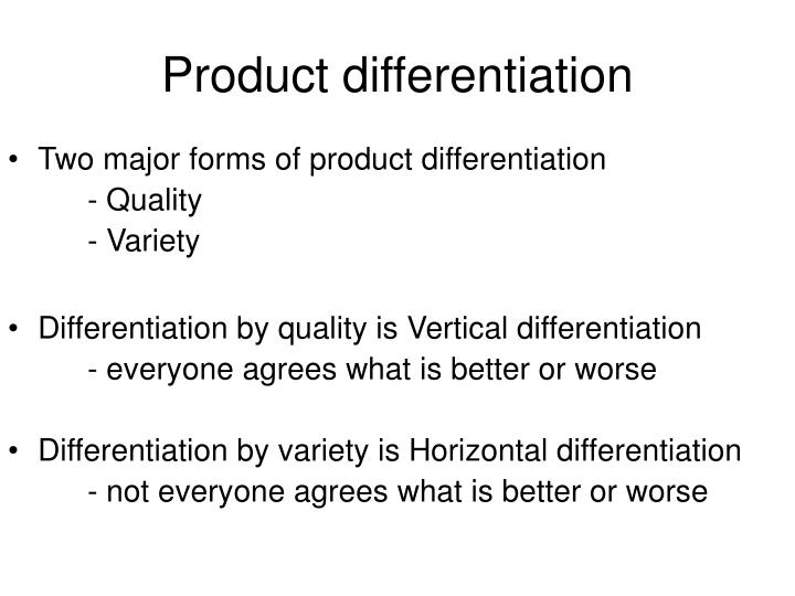 product differentiation n.