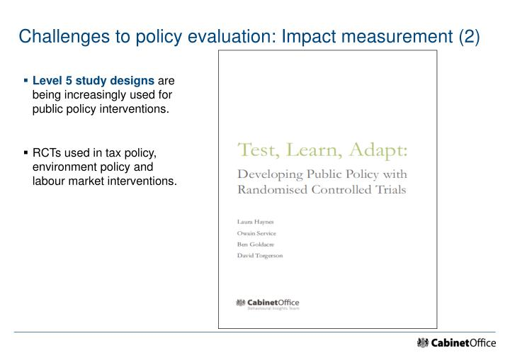 Challenges to policy evaluation: Impact measurement (2)