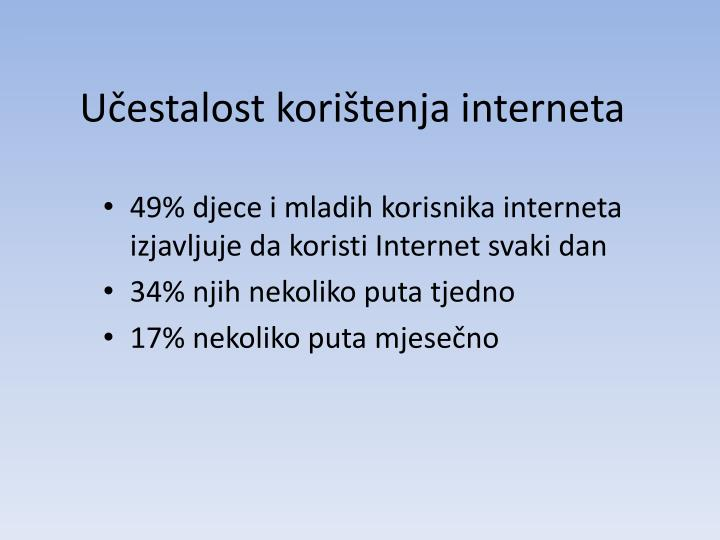 Učestalost korištenja interneta