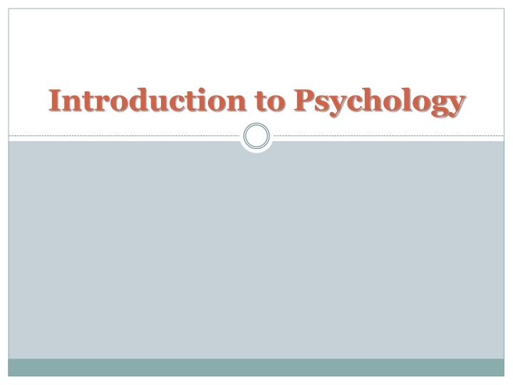 introduction to psychology n.