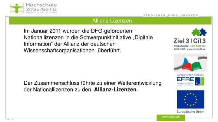 Allianz-Lizenzen