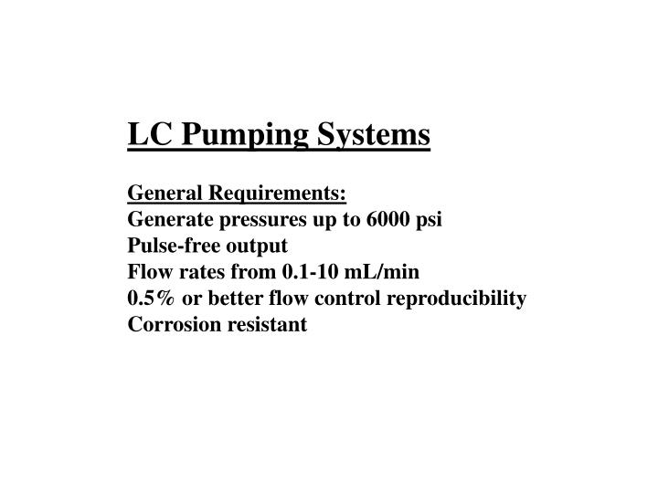 LC Pumping Systems