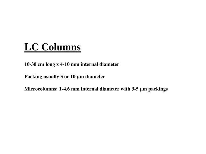 LC Columns