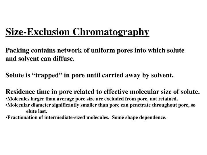 Size-Exclusion Chromatography