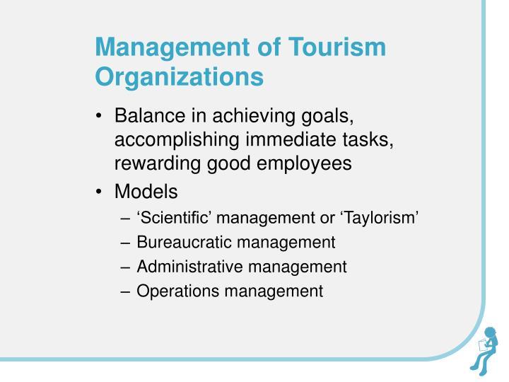 Management of Tourism Organizations