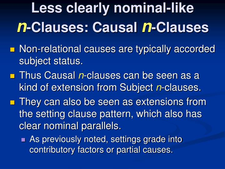 Less clearly nominal-like