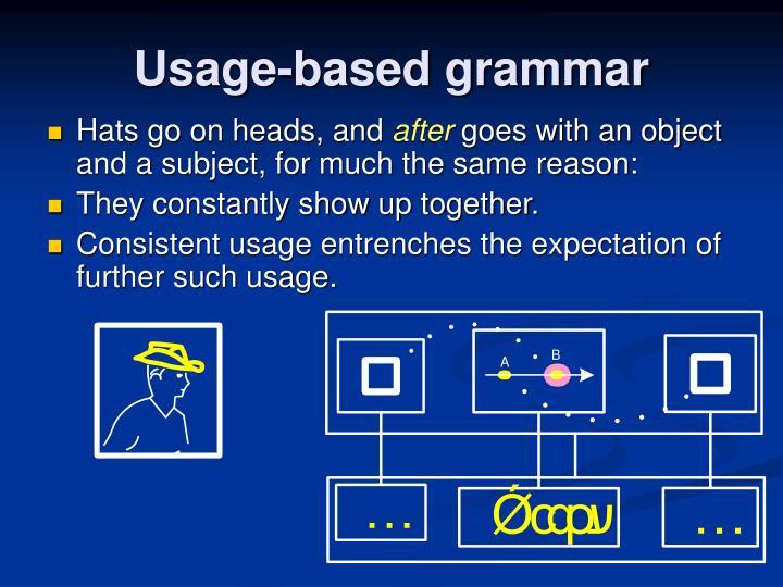 Usage-based grammar