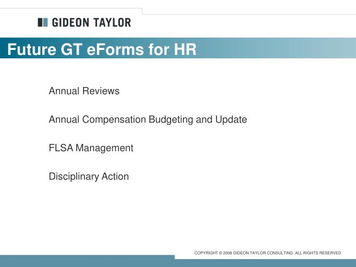 Future GT eForms for HR