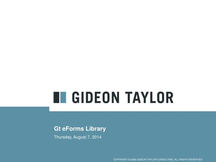 Gt eforms library