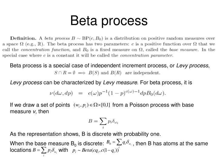 Beta process