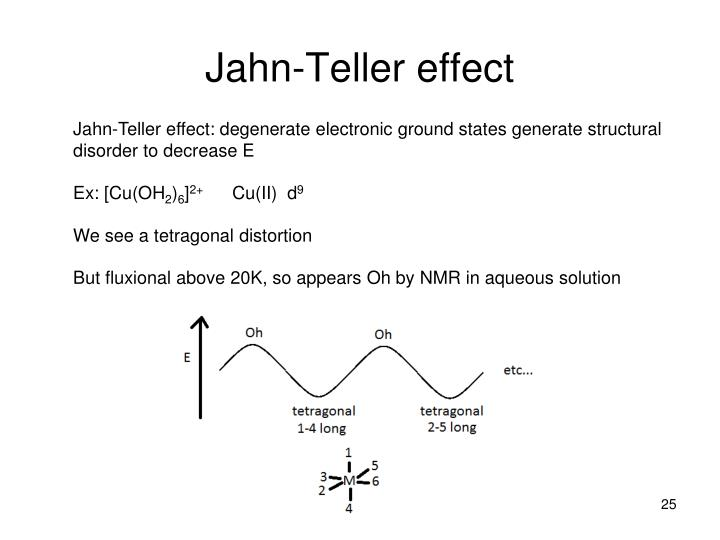 the jahn teller effect Jahn-teller effect-dissociative recombination of hco + Åsa larson, stefano tonzani, robin santra et al-kinetics of reactions of ccn radical with alcohols.