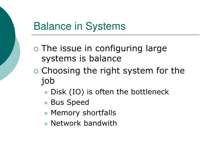 Balance in Systems