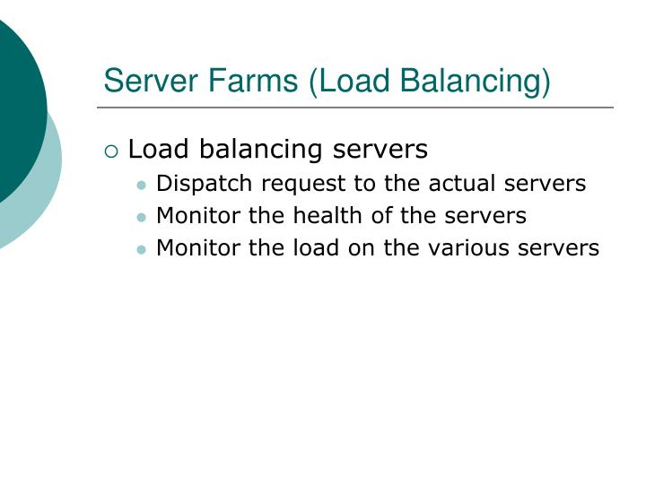 Server Farms (Load Balancing)