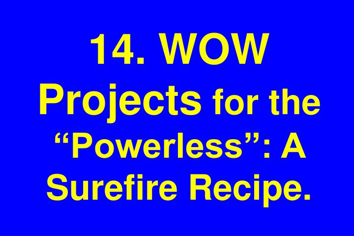 14. WOW Projects