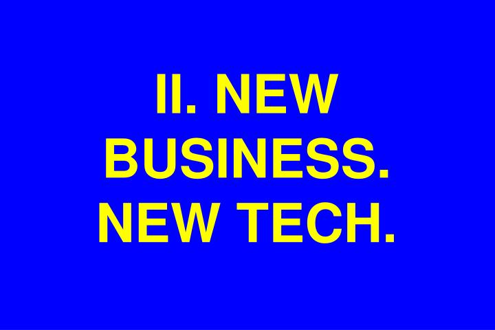 II. NEW BUSINESS.