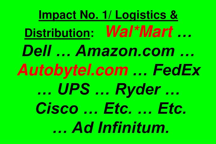 Impact No. 1/ Logistics & Distribution