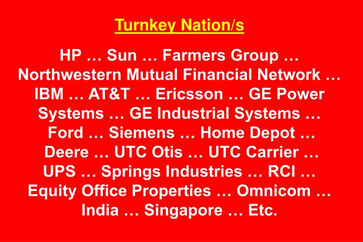 Turnkey Nation/s