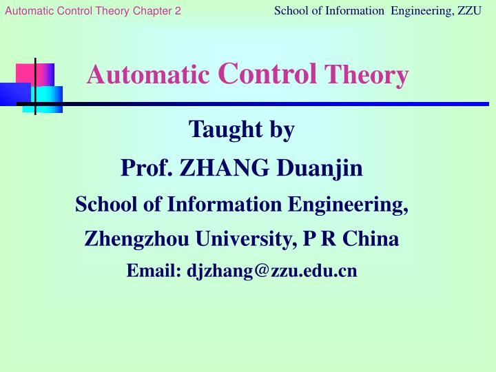 automatic control theory n.