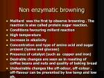 non enzymatic browning