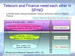 telecom and finance need each other in sp no