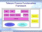 telecom finance functionalities framework