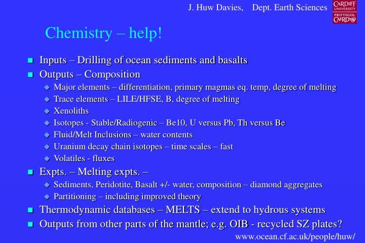 Chemistry – help!