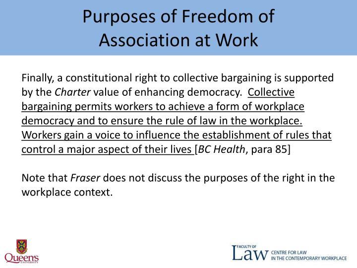 Purposes of Freedom of