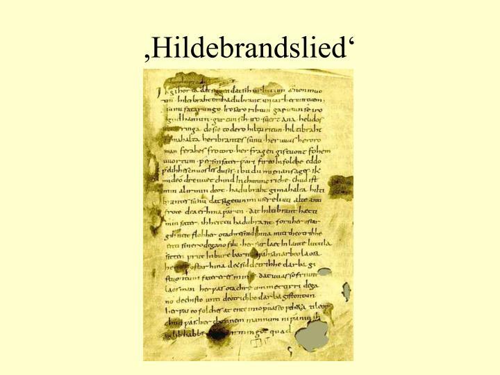 ,Hildebrandslied'