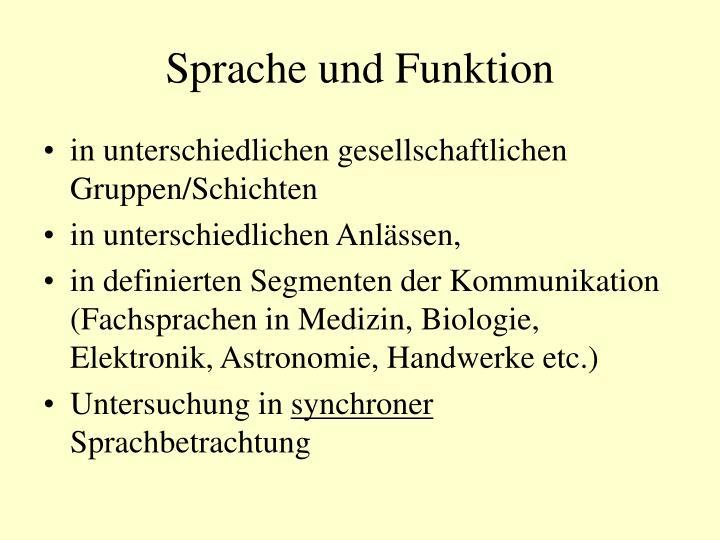 Sprache und Funktion