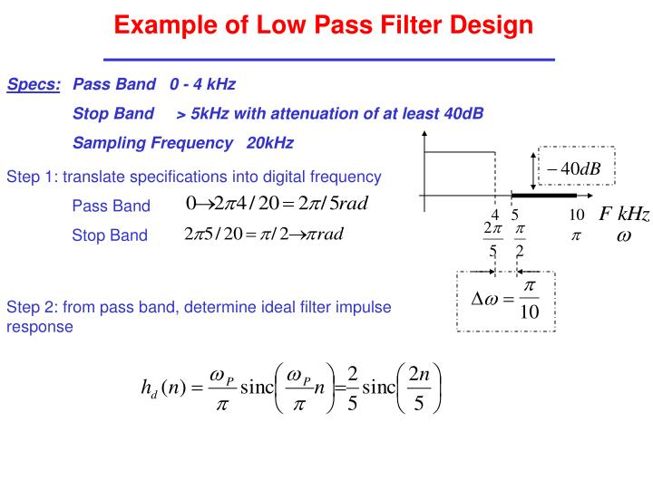 Example of Low Pass Filter Design