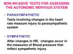 non invasive tests for assessing the autonomic nervous system