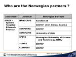 who are the norwegian partners1