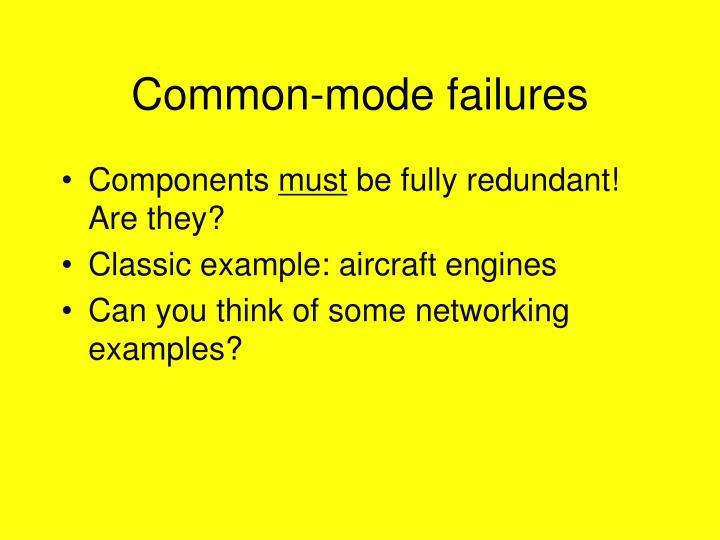 Common-mode failures