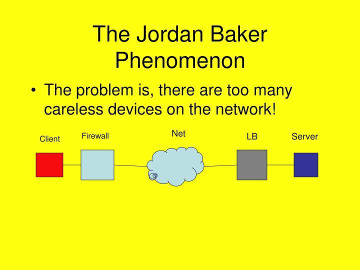 The Jordan Baker Phenomenon