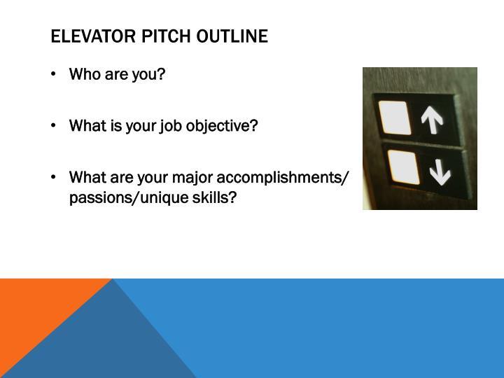 Elevator Pitch Outline