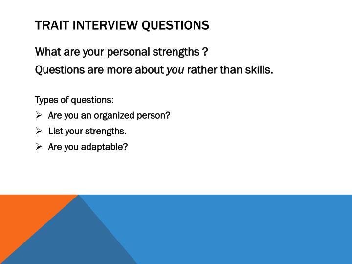 Trait Interview questions