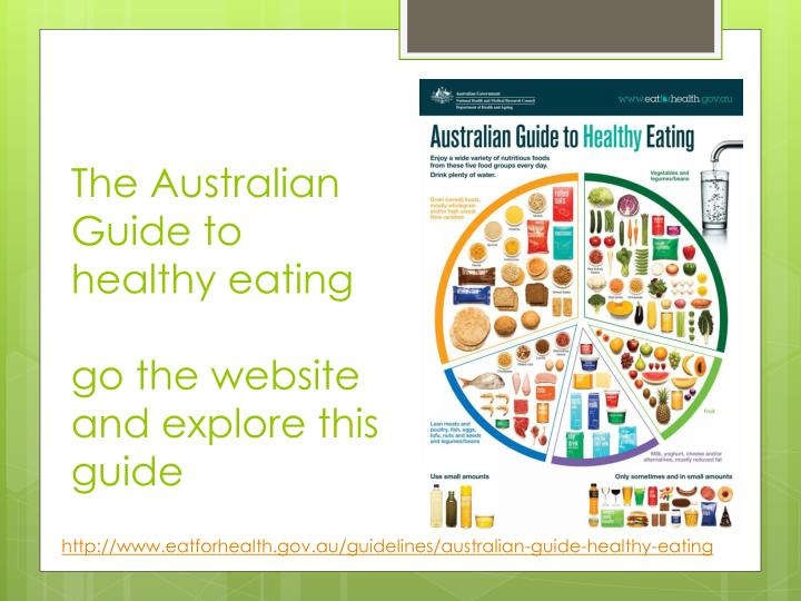 The Australian Guide to healthy