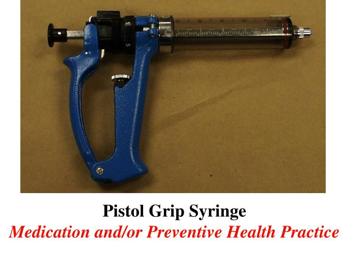 Pistol Grip Syringe